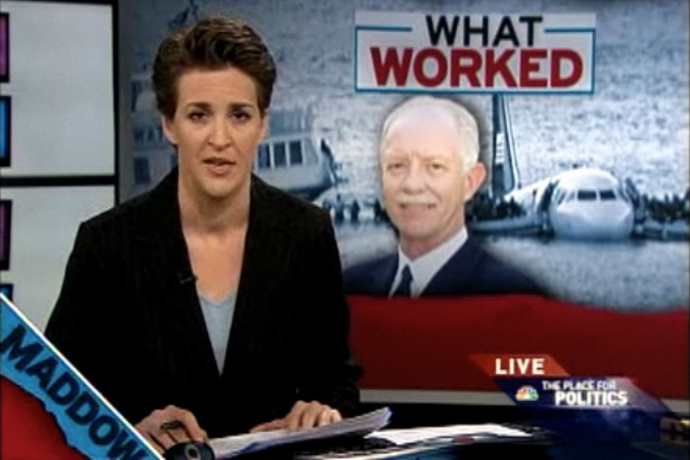 Rachel Maddow reports on Chesley Sullenberger, January 16, 2009