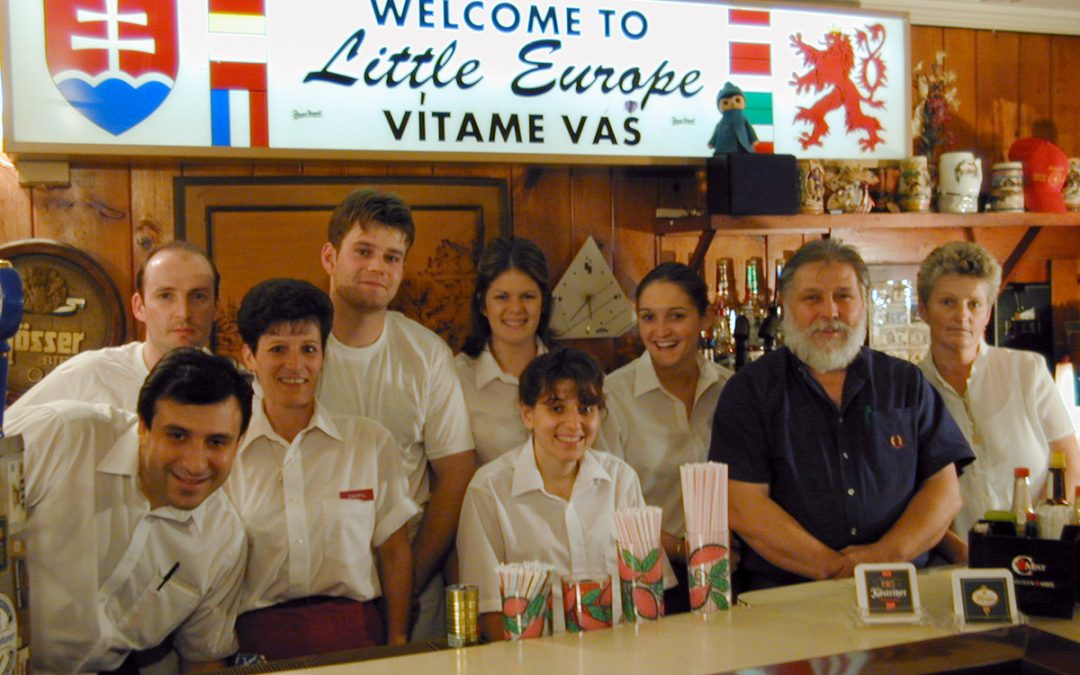 Restaurant owners and staff at Little Europe Czech restaurant in Kenosha, Wisconsin