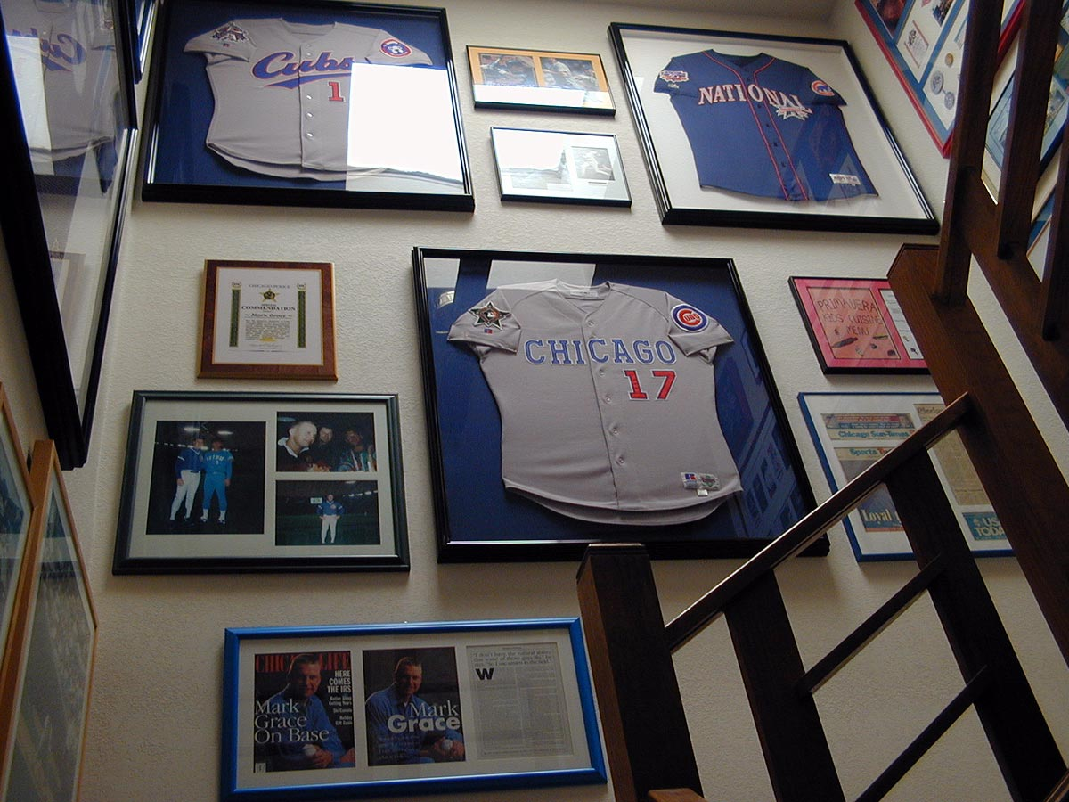 Sports memorabilia of Chicago Cubs' Mark Grace