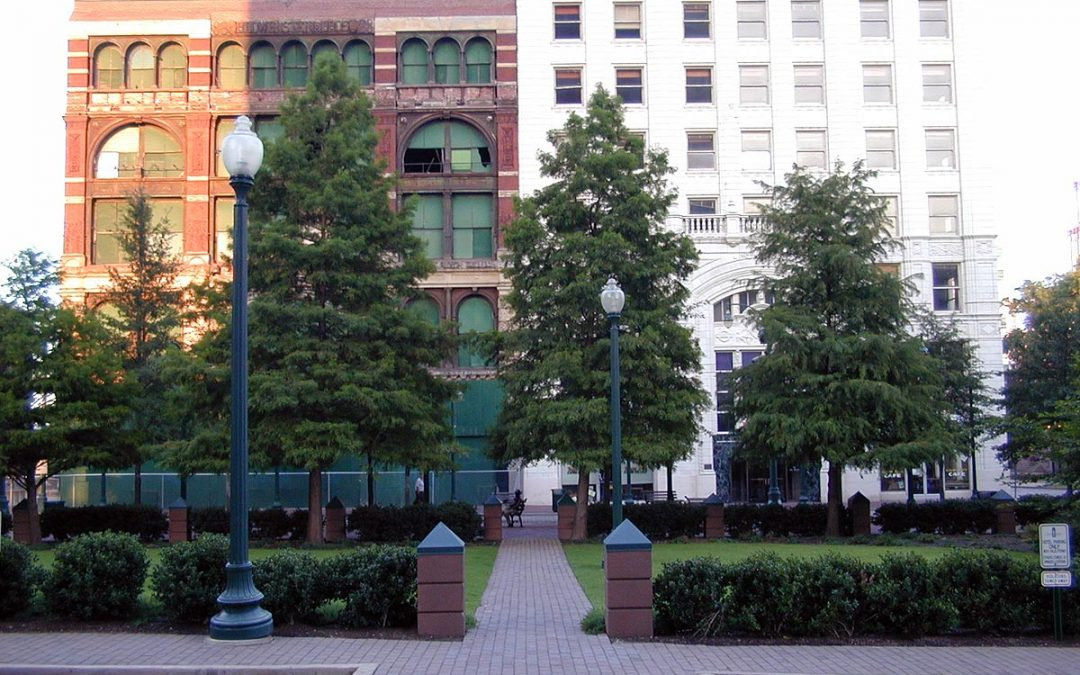 Memphis, Tennessee: Lowenstein Building and Lincoln American Tower before Court Square Center renovation
