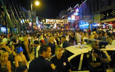 Memphis Police on Beale Street