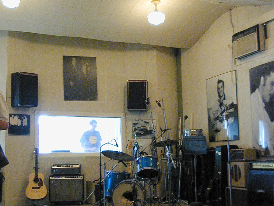Sun Studio, Memphis TN: Main room and acoustic tile ceiling