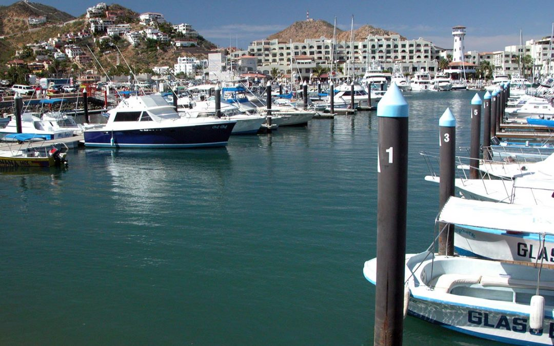 Marina Cabo San Lucas, Mexico, Pedregal real estate properties, Tesoro Hotel and lighthouse